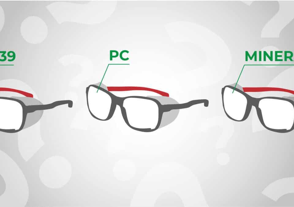 material-de-las-gafas-de-seguridad
